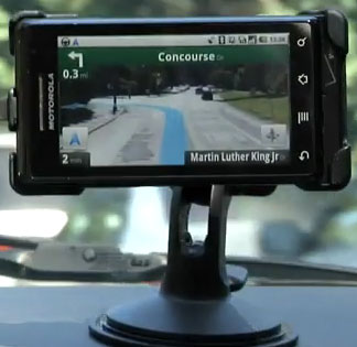Google Maps Navigator on the Droid